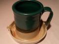Stegall's Stoneware: Green & Tan
