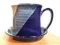 Patrick Rowe: White & Blue Diagonal