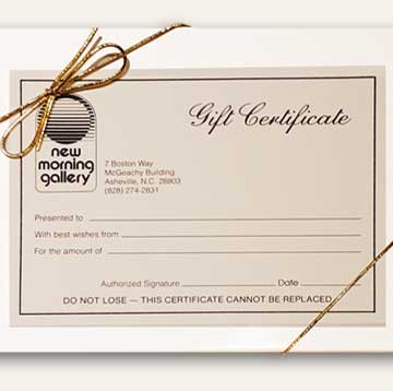 Gift Certificate New Morning Gallery