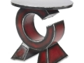 Gatski Metalworks Red C Table