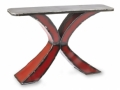 Gatski Metalworks Red X Console Table