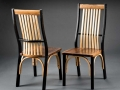 Irma and Paul Natural Edge Side Chairs