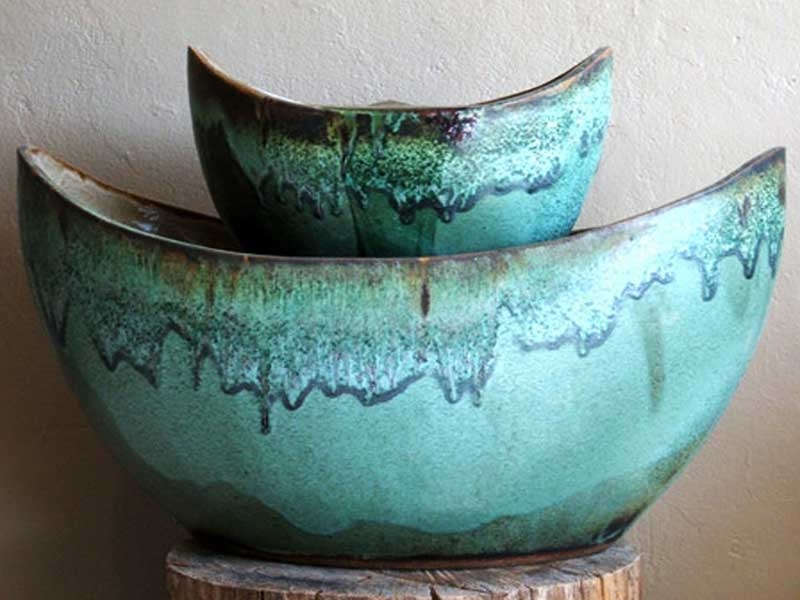 Mangum Pottery Mission Fountain