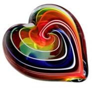 Glass Eye Pride Heart
