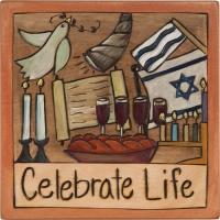 Sticks Judaica Plaque