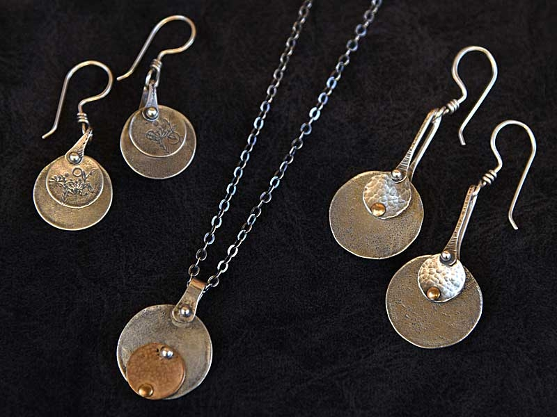 Staci Florer necklace and earrings
