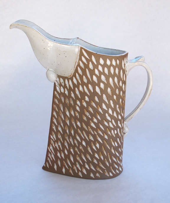 Batton Clayworks Pitcher (White Orzo)