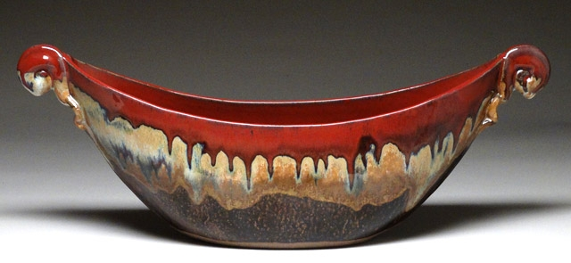 Mangum Pottery Boat Bowl (Autumn)