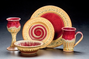 Ray Pottery Dishware (Red)