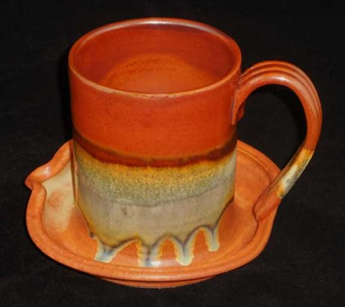 New Morning Gallery Aztec Bacon Cookers by Sunset Canyon are made with food-safe ceramics and glazes.