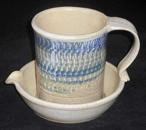 New Morning Gallery Ceramic Chattering John Ransmeier Bacon Cookers are made with food-safe ceramics glazes.