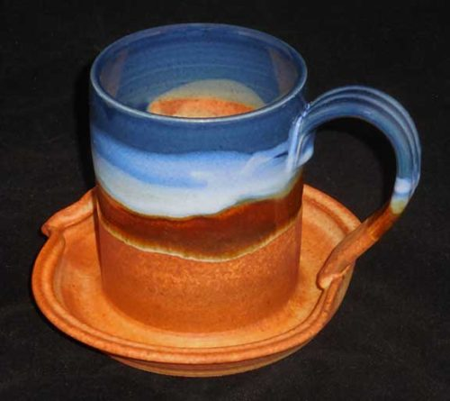 New Morning Gallery Earth and Sky Bacon Cookers by Sunset Canyon are made with food-safe ceramics and glazes.