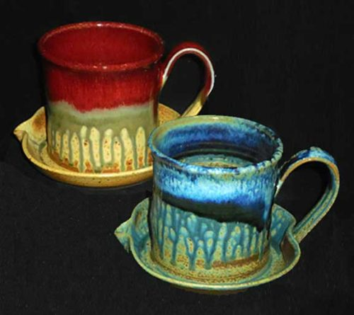 New Morning Gallery Bacon Cookers by Ray Pottery.