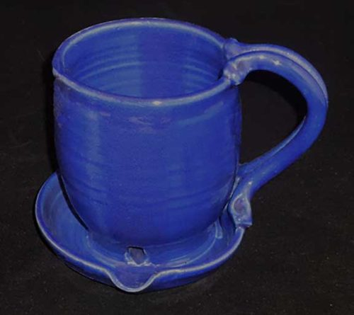 New Morning Gallery Royal Blue Bacon Cookers by Anthony Stoneware are made with food-safe ceramics and glazes.