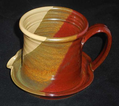 New Morning Gallery Rust Cream Patrick Rowe Ceramic Bacon Cookers are made with food-safe ceramics glazes.