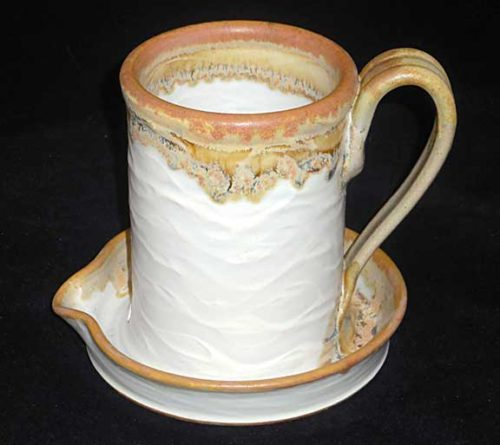 New Morning Gallery White Allan Ditton Ceramic Bacon Cookers made with food-safe ceramics and glazes.