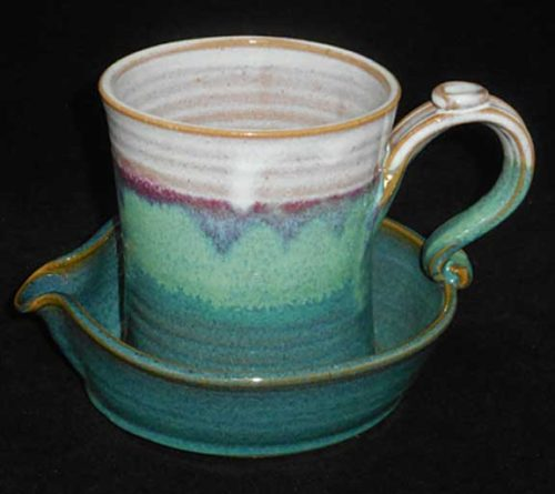 New Morning Gallery Green Bacon Cookers by Salvaterra Pottery are made with food-safe ceramics and glazes.
