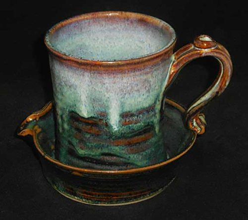 New Morning Gallery Moss Bacon Cookers by Salvaterra Pottery are made with food-safe ceramics and glazes.