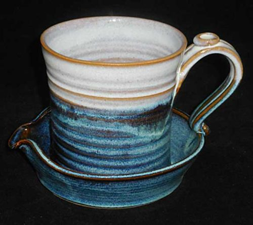 New Morning Gallery Sky Bacon Cookers by Salvaterra Pottery are made with food-safe ceramics and glazes.