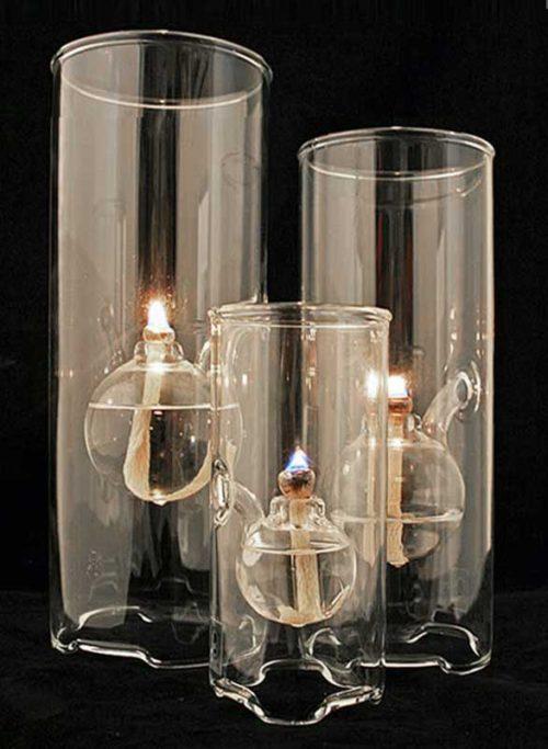 3 Wolfard Oil Lamps