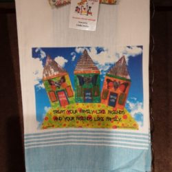 Lunar Designs Kitchen Towel #187 Family Friends