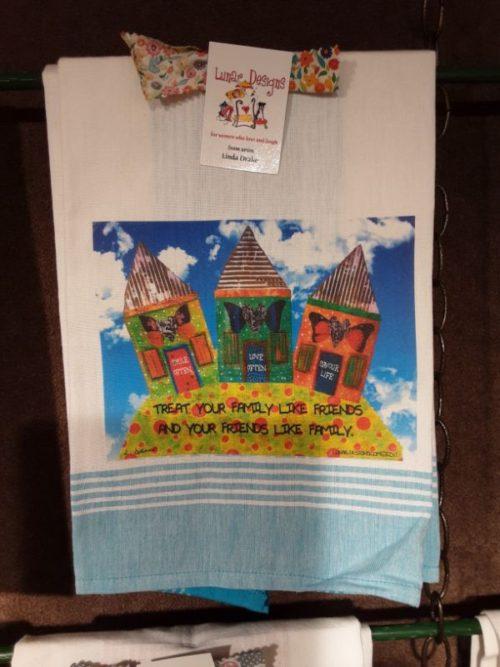 Lunar Designs Kitchen Towel #187 Family Friends