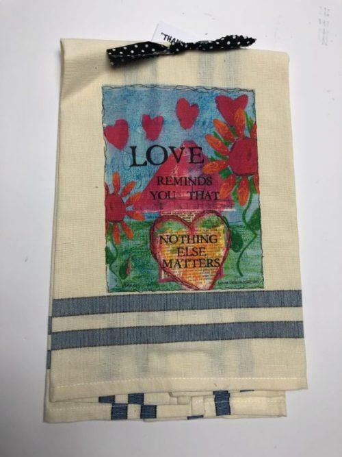 Lunar Designs Kitchen Towel #205 Love Matters
