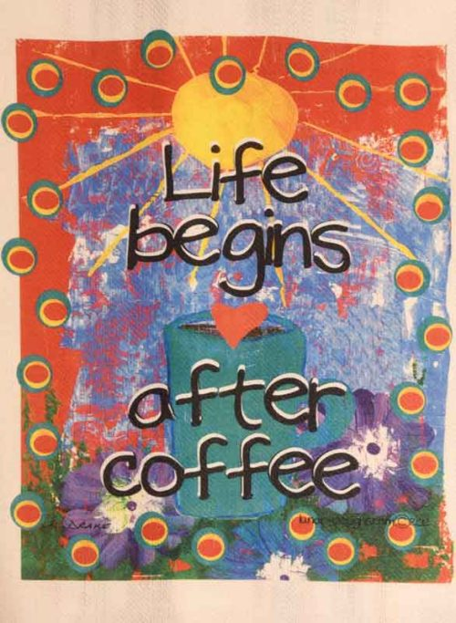 Lunar Designs Kitchen Towel #222 Life Coffee