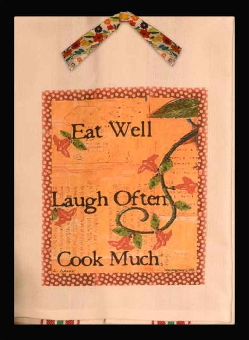 Lunar Designs Kitchen Towel #227 Cook Much