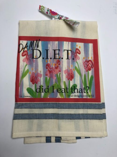 Lunar Designs Kitchen Towel #186 Diet