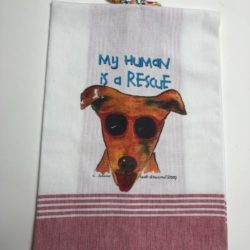Lunar Designs Kitchen Towel #025 Rescue Dog