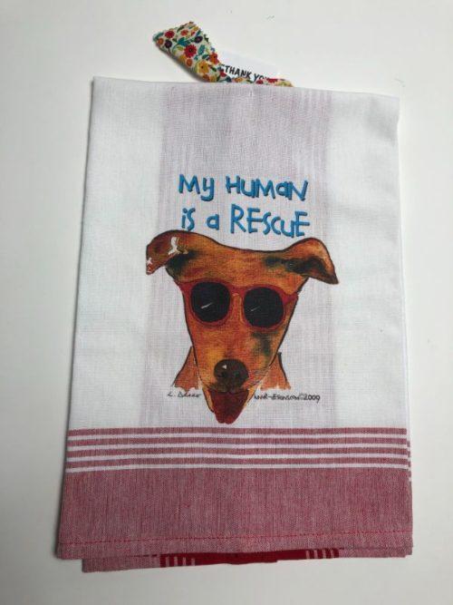 Lunar Designs Kitchen Towel #025 Rescue Dog