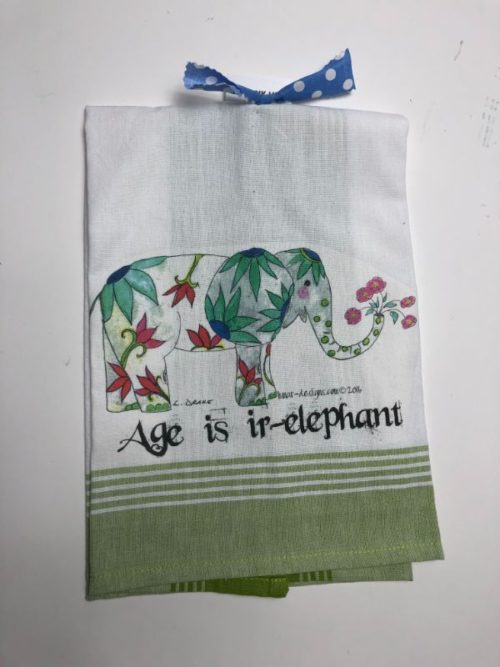 Lunar Designs Kitchen Towel #244 Elephant