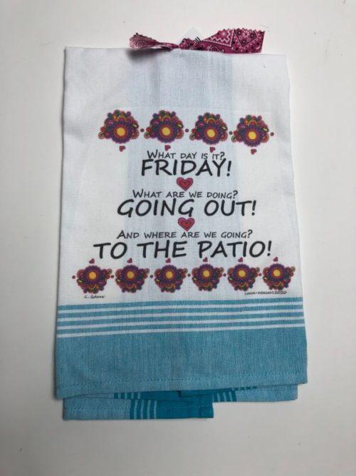 Lunar Designs Kitchen Towel #290 Patio