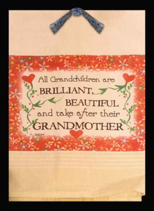 Lunar Designs Kitchen Towel #182 Grandchildren