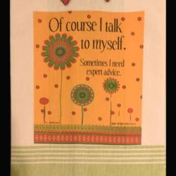 Lunar Designs Kitchen Towel #184 Talk Self