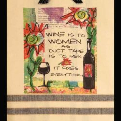 Lunar Designs Kitchen Towel #200 Wine Women