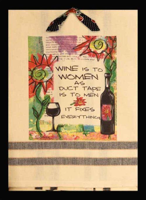 Lunar Designs Kitchen Towel #200 Wine Women