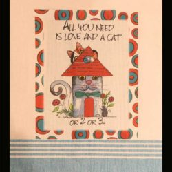 Lunar Designs Kitchen Towel #274 Love/Cat