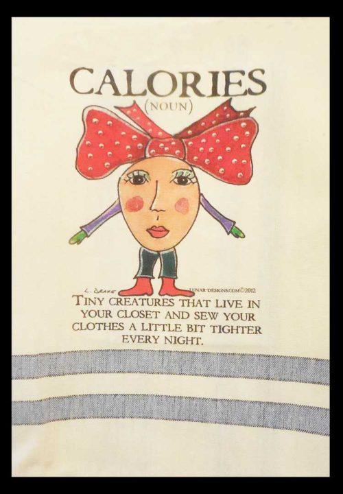 Lunar Designs Kitchen Towel #157 Calories